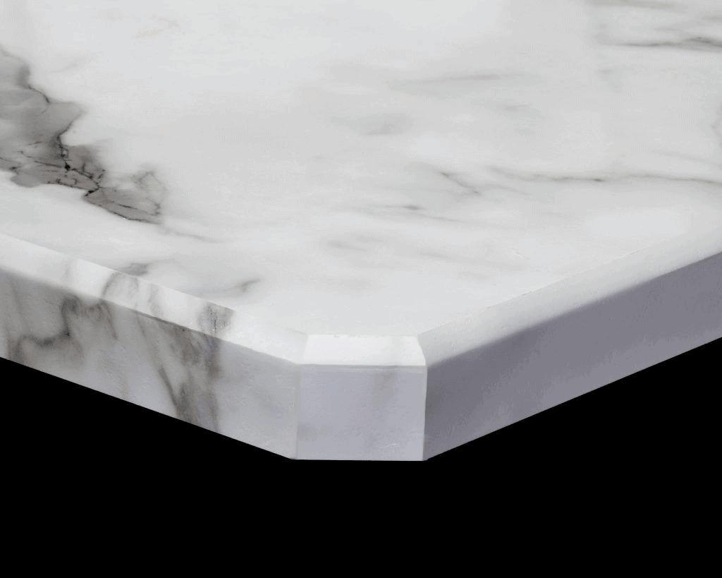 Countertop single bevel edge
