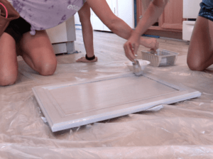 Painters kitchen cabinets