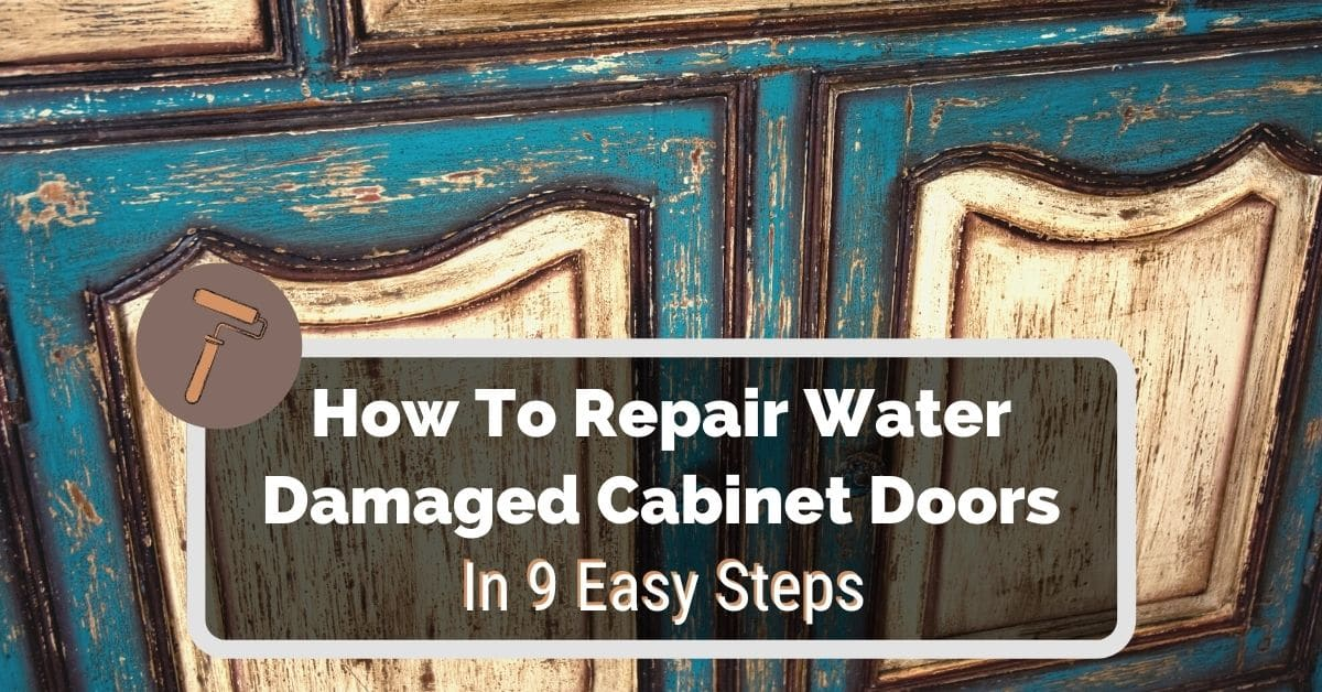 To Repair Water Damaged Cabinet Doors, Repair Laminate Kitchen Cabinets