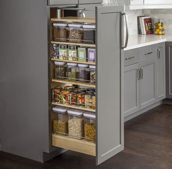 wall cabinet door spice organizer