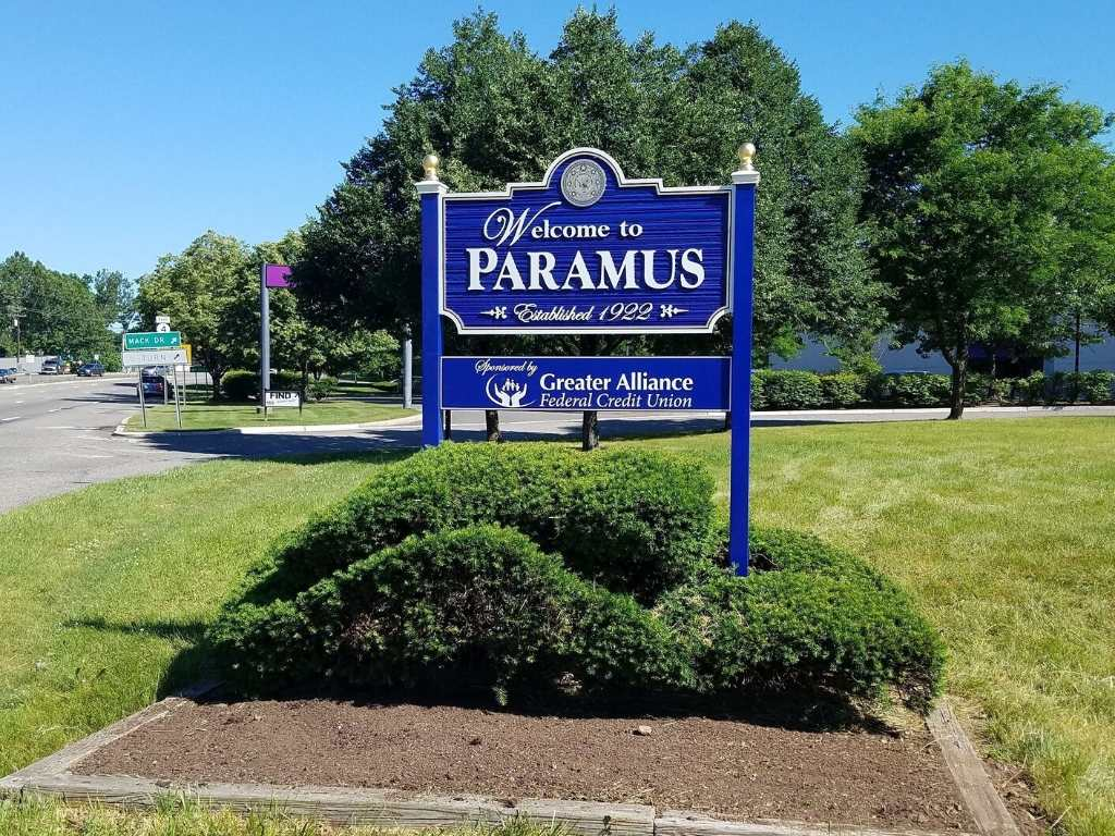 Town Sign of Paramus, NJ