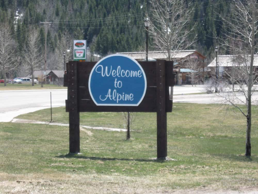Town of Alpine Sign
