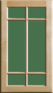 Mullion pattern #6 - Maple
