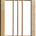Mullion pattern #7 - Maple
