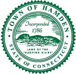 Town sign of Hamden