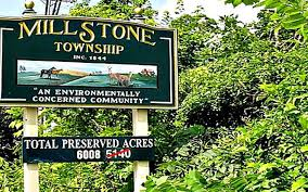 Town sign of Millstone Township
