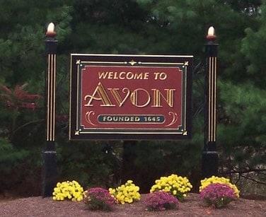 Avon town sign