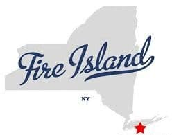 Town sign of Fire Island