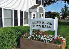 Town sign of Shelter Island