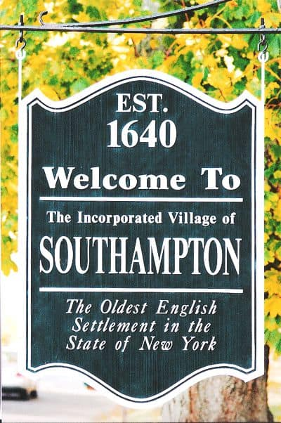 Town sign of Town of Southhampton