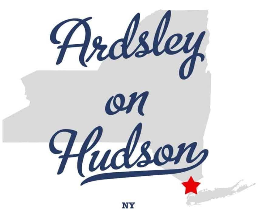 Town sign of Ardsley On Hudson