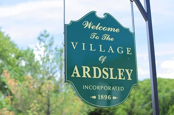 Town sign of Ardsley