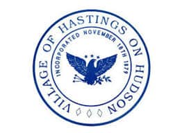 Town sign of Hastings on Hudson