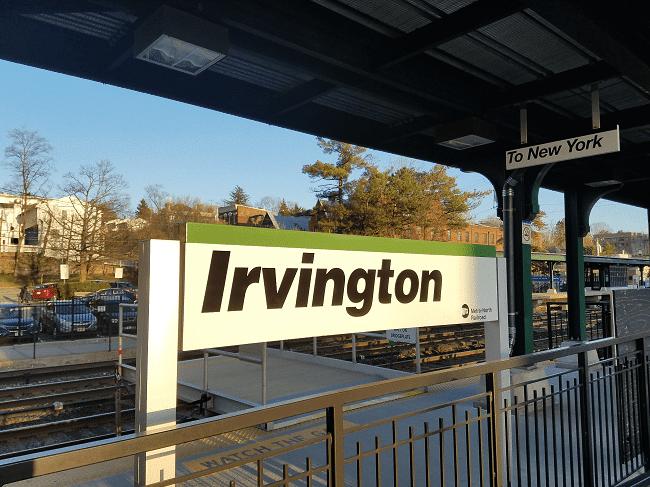 Town sign of Irvington