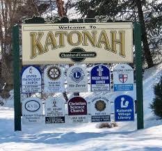 Town sign of Katonah