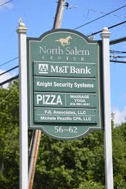Town sign of North Salem