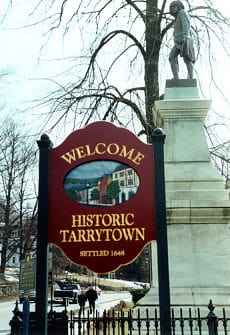 Town sign of Tarrytown