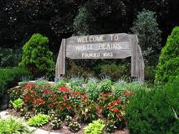 Town sign of White Plains