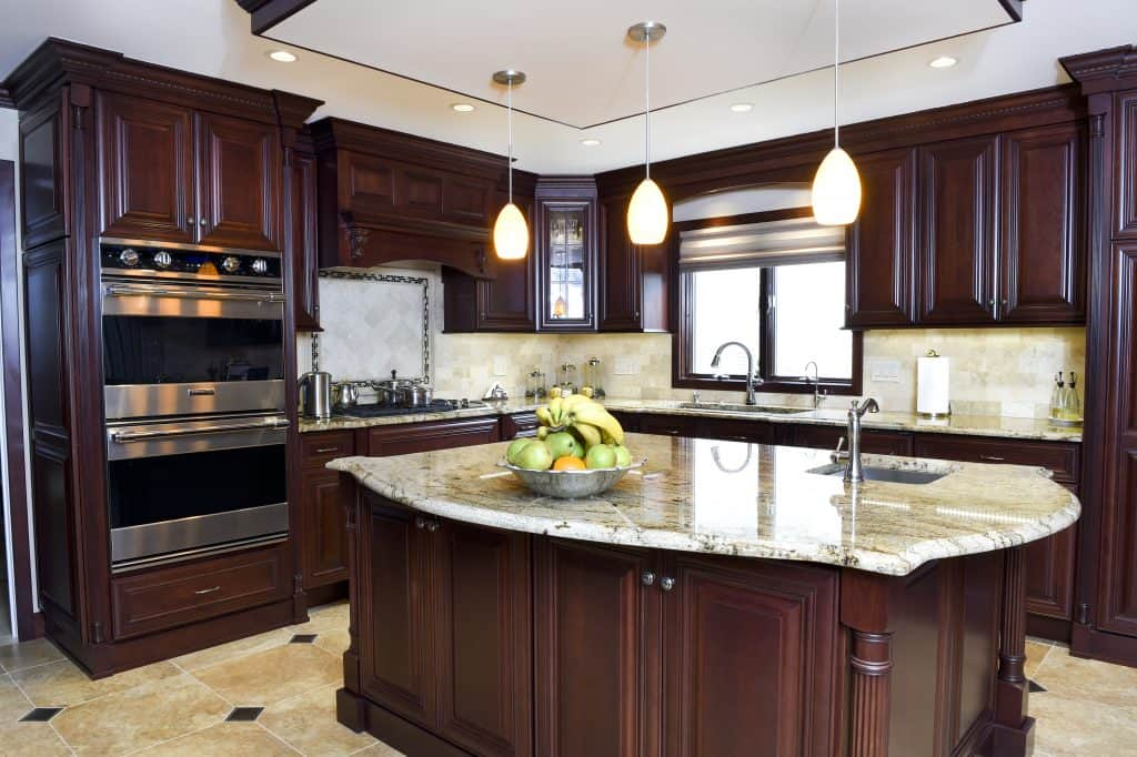 Dark Cabinets with Light Countertop
