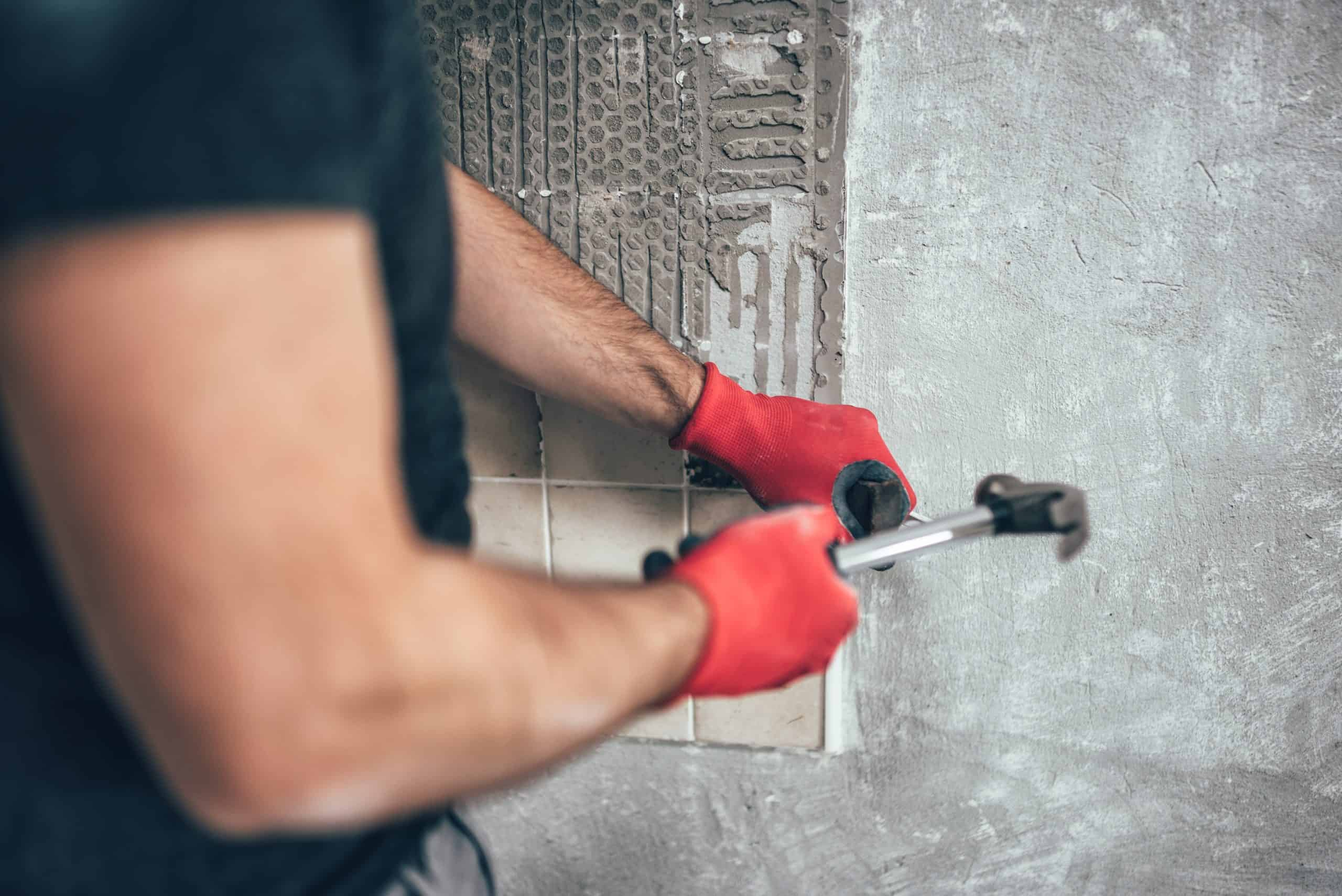 How to remove granite backsplash in the kitchen