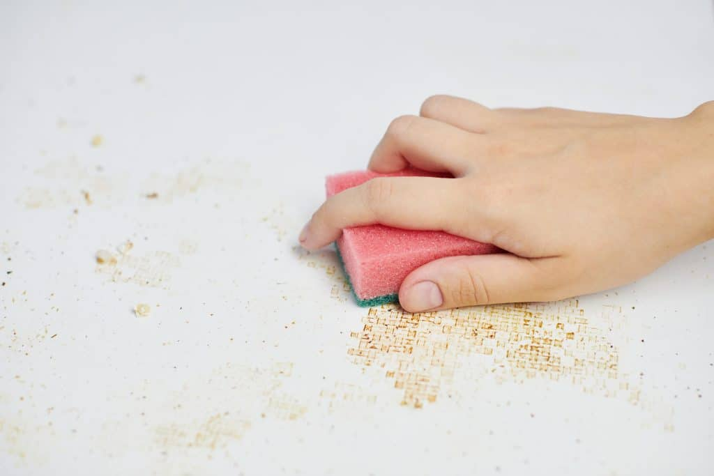 Cleaning crumbs and spills