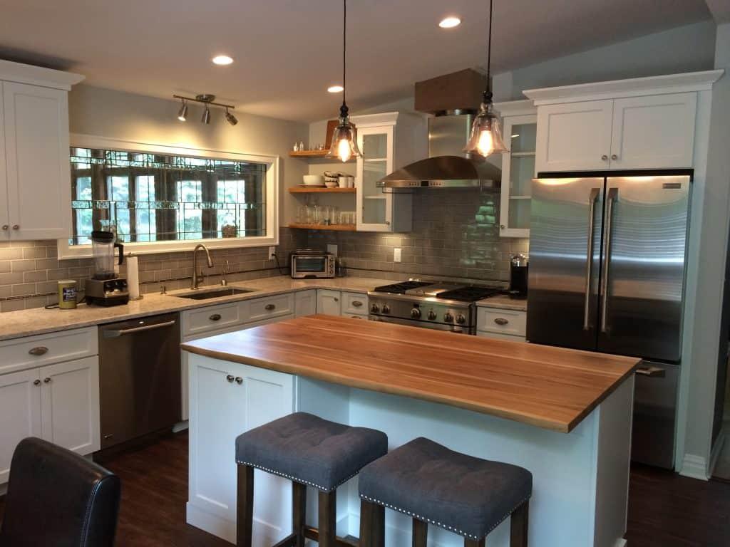 Wooden Countertops in kitchen