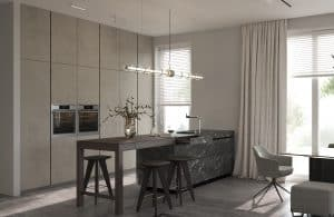 Putting blinds in kitchen