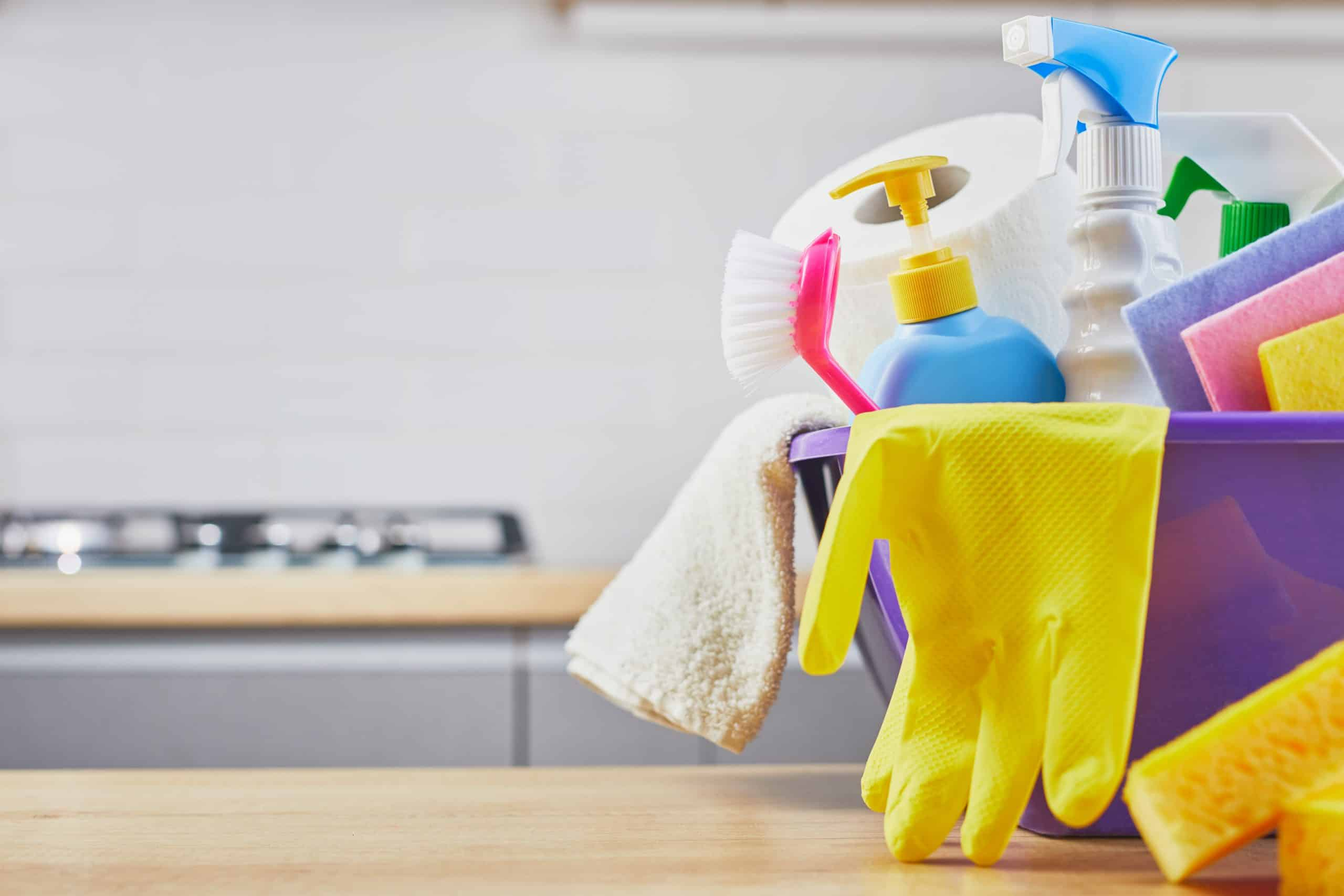 Tips on cleaning sticky kitchen cabinets