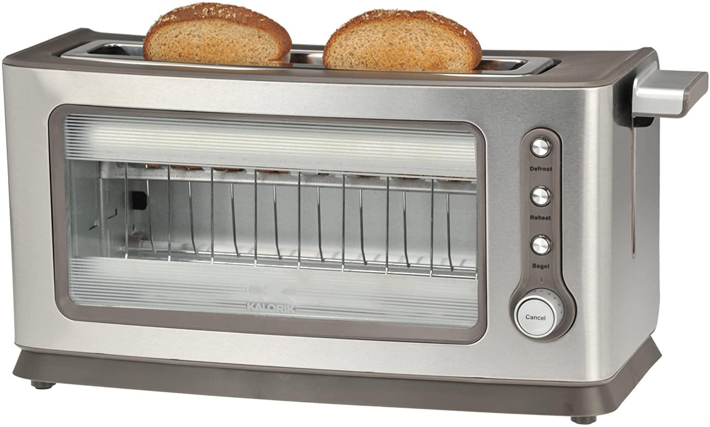 2-Slice Kalorik Glass Toaster TO 39085 SS