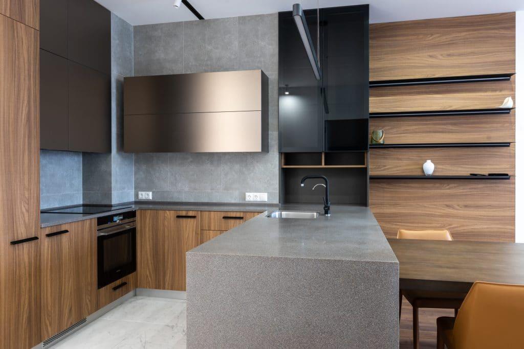 A modern wooden kitchen