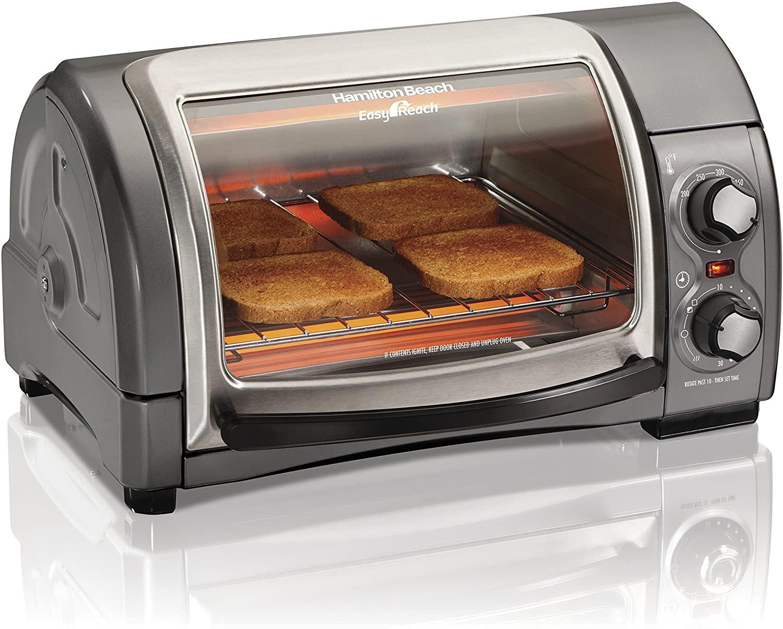Hamilton Beach 31344D 4-Slice Toaster Oven with Roll-top Door