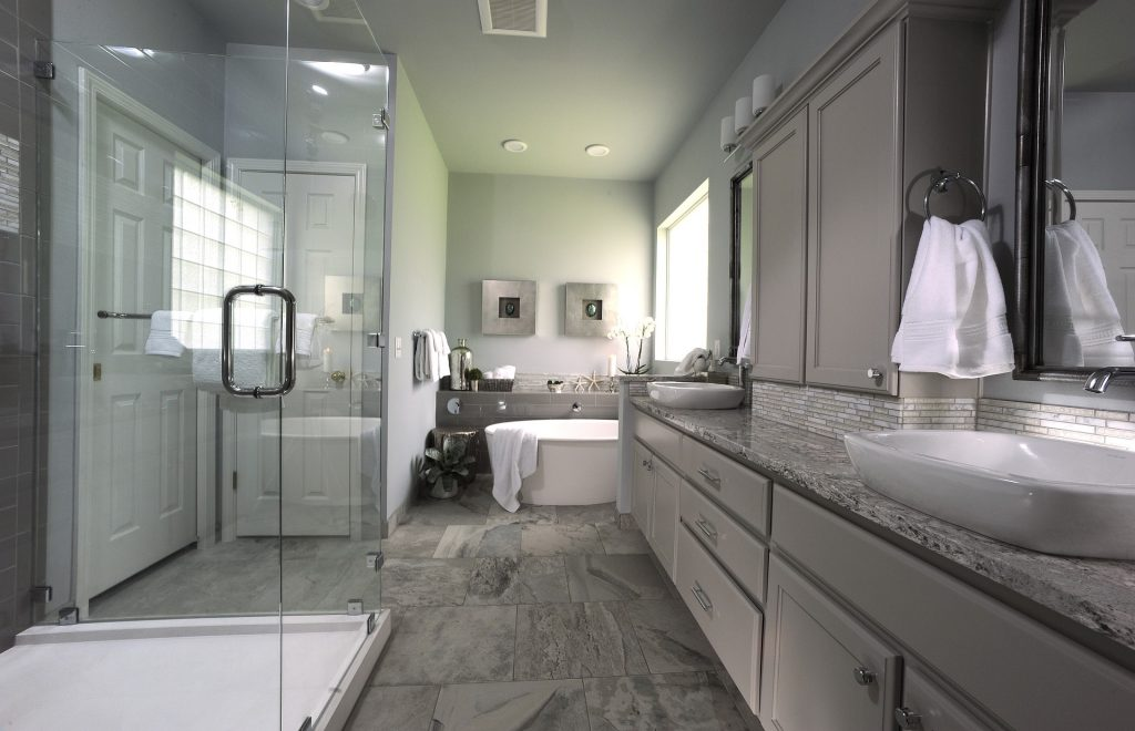 Master Bath Design, Remodel, Open Shower