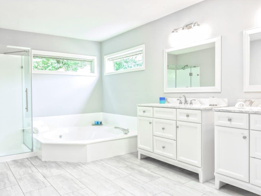 modern white washroom