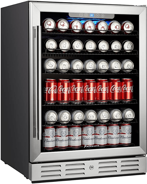 Kalamera Built-in 24-inch Beverage Refrigerator (best built-in fridge)