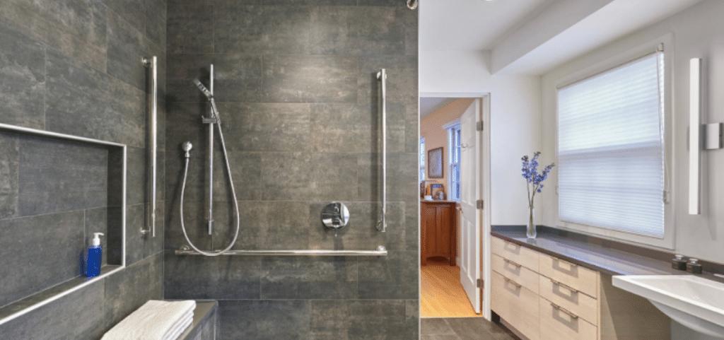 horizontal shower grab bar