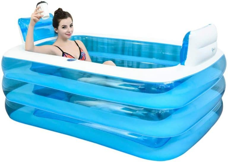 XL Plastic Blue Color Inflatable Bathtub