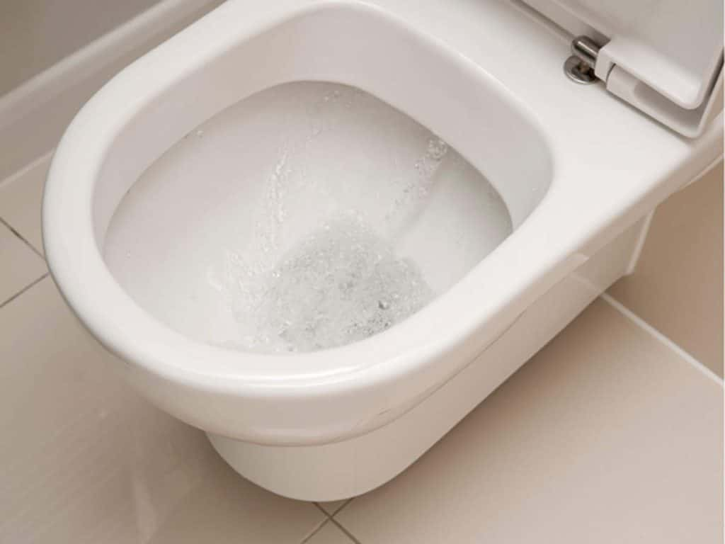 Unclog toilet without plunger