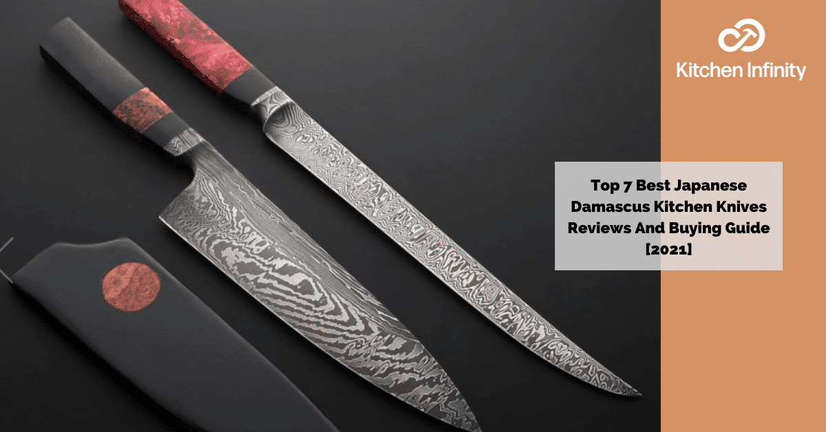 picture of demascus kitchen knives (best japanese knives)