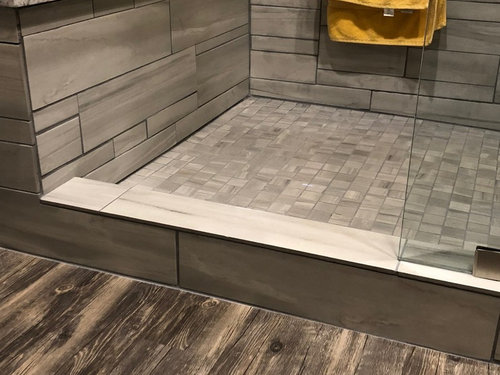 Installing a shower curb