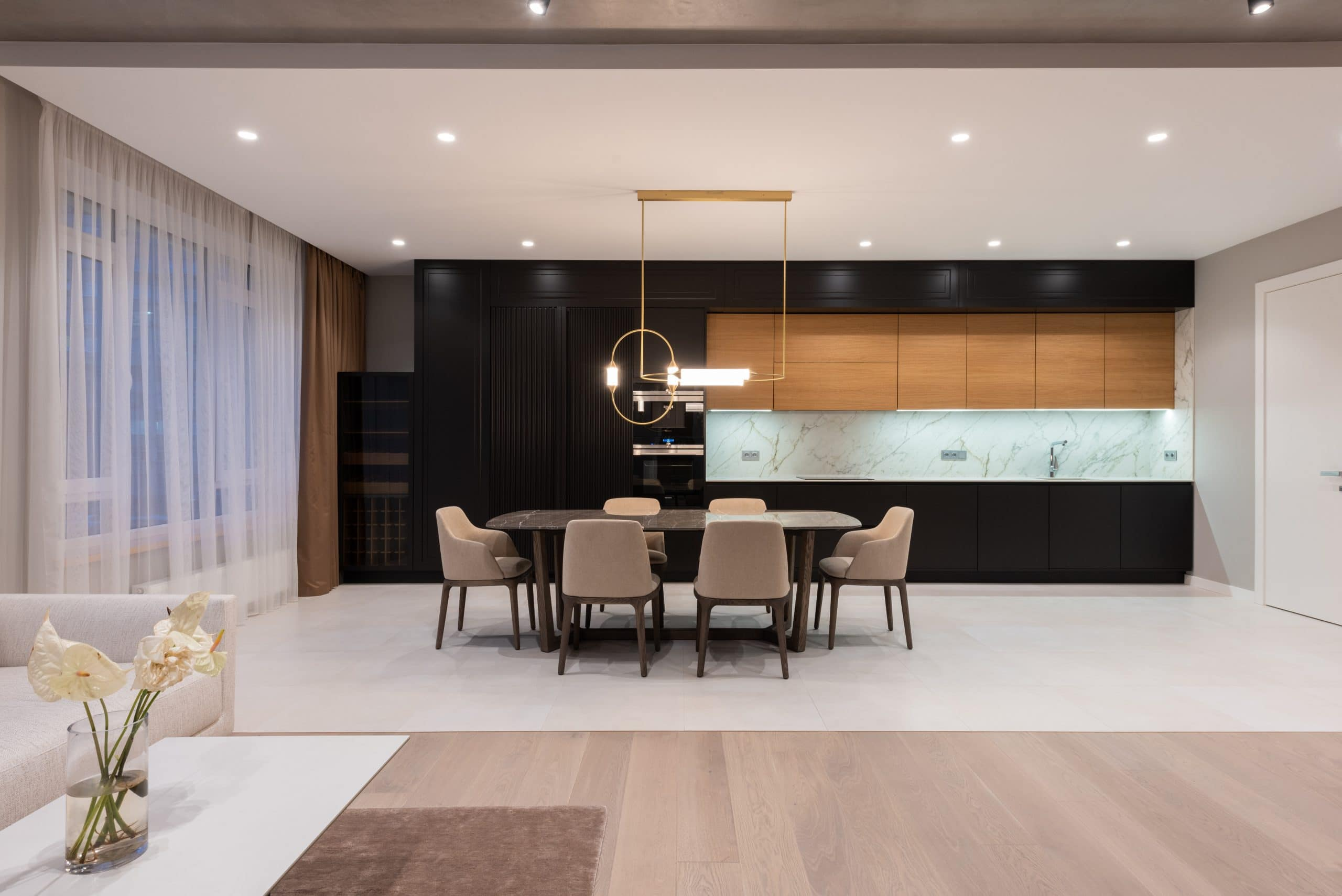 Kitchen recessed lighting placement