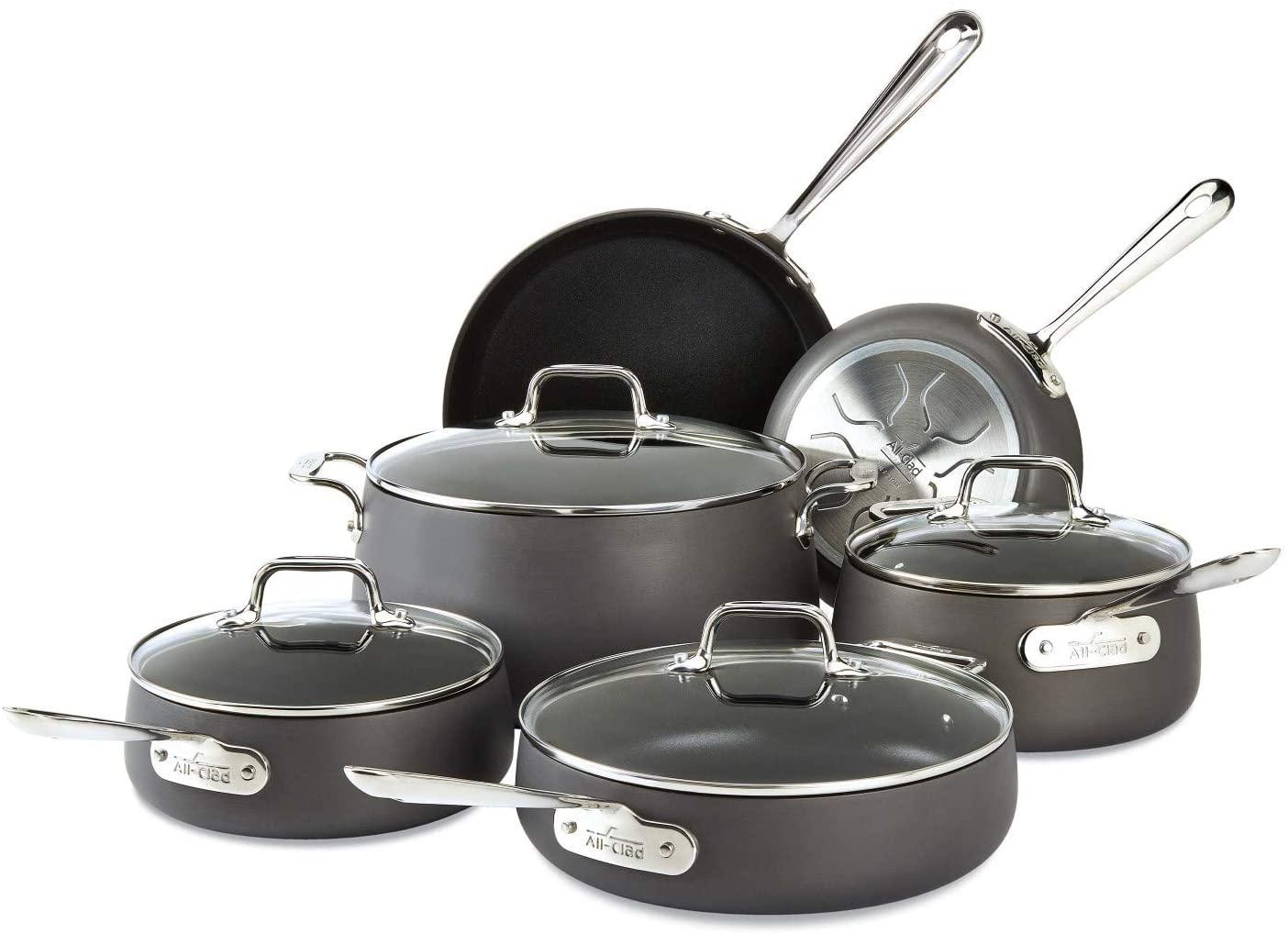 All Clad HA1 E785SC64 Hard Anodized Cookware Set