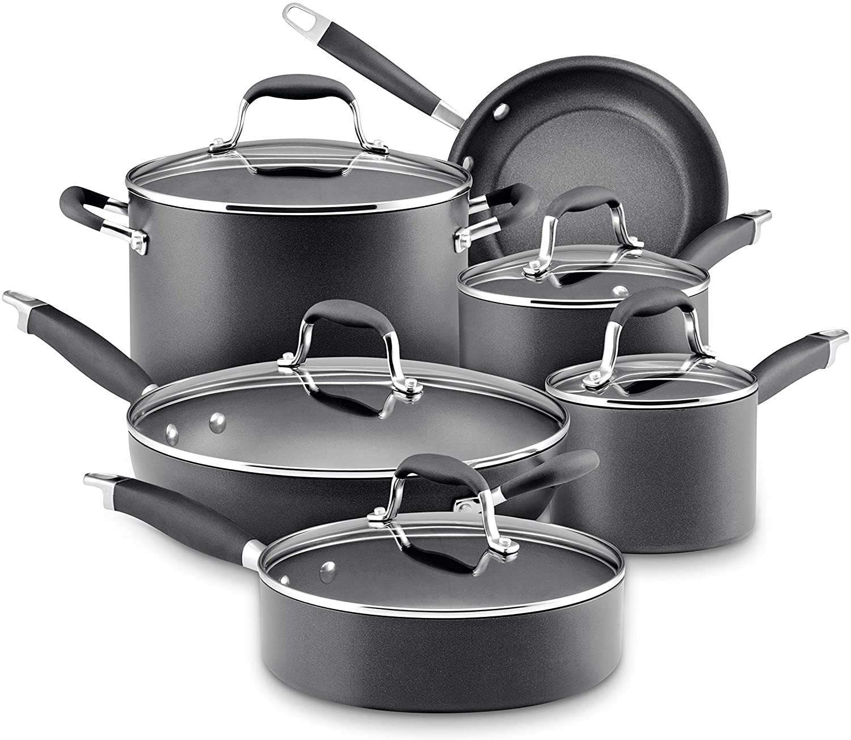 Anolon Advanced Bronze 11-piece Hard Anodized Cookware Set