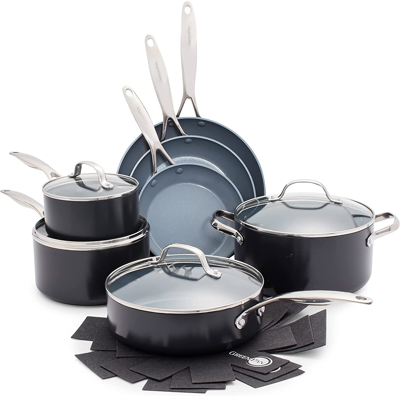GreenPan Valencia Pro Hard Anodized Induction-safe Ceramic Non-stick Cookware Set