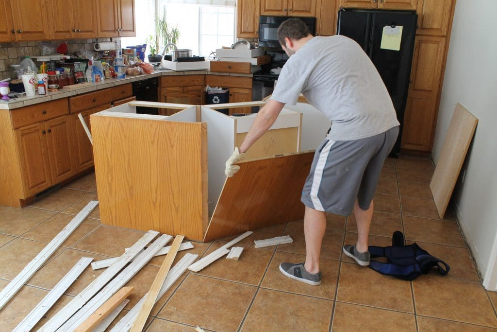 how to remove a kitchen island
