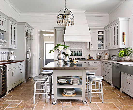 how to install kitchen island