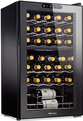 Wine Enthusiast Dual Zone 32-bottle Wine Cooler (Best overall wine fridge)