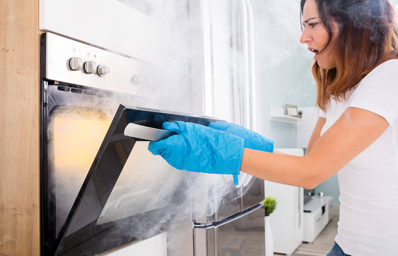 how to remove melted plastic from the oven