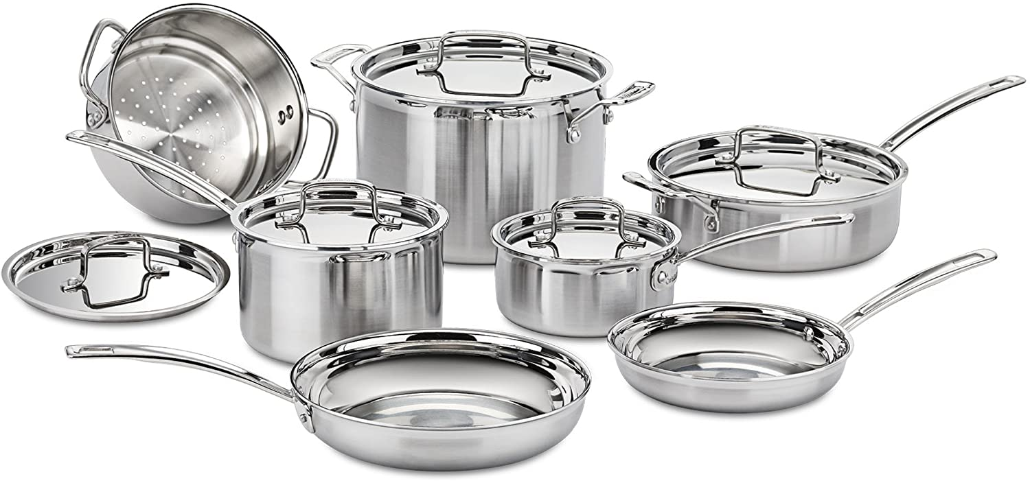 Cuisinart MCP-12N Multi-clad Pro Stainless Steel Cookware Set