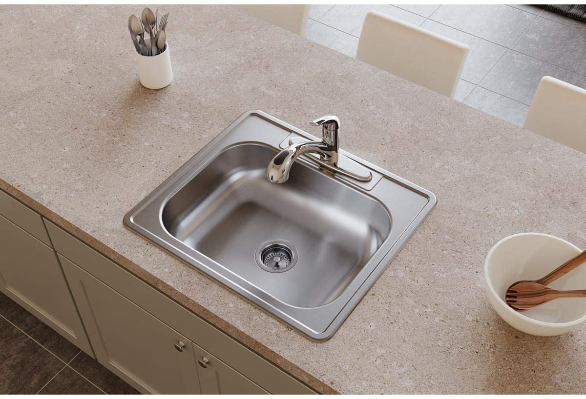 Elkay D125223 Single Bowl Drop-in Stainless Steel Sink
