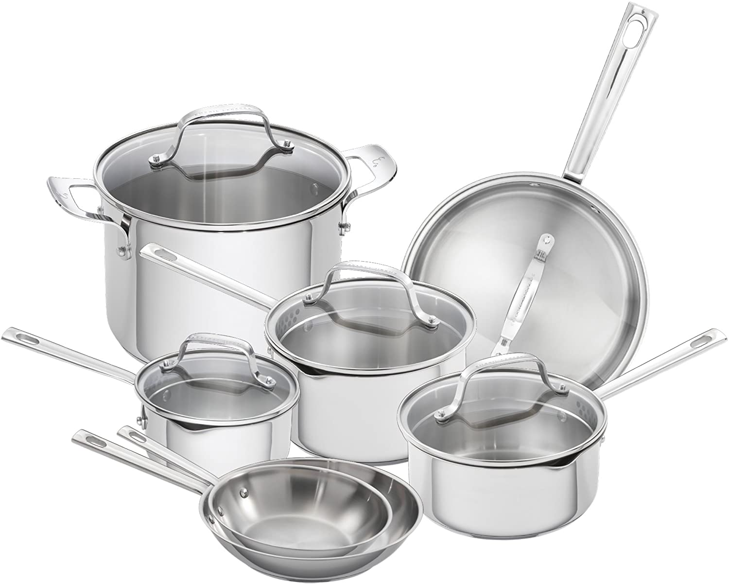 Emeril Lagasse Stainless Steel Cookware Set with Copper Core